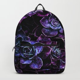 Sparkle Succulents Purple Blue Aqua Backpack