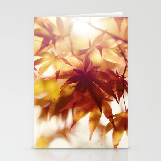 Autumn light Stationery Cards