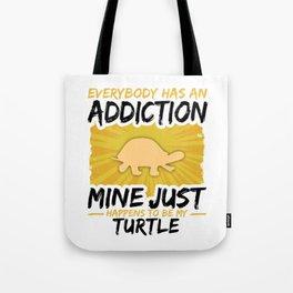 Turtle Addiction Funny Farmer Animal Lover Tote Bag