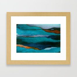 """""""a dark february redux1"""" abstract watercolor painting Framed Art Print"""