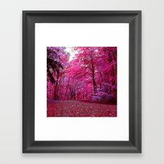 purple forest IV Framed Art Print