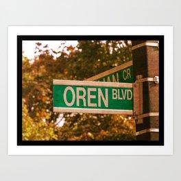 Oren Blvd Art Print