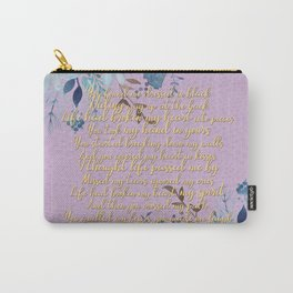 Sia Dressed in Black Lavender Lyrical Tribute Carry-All Pouch