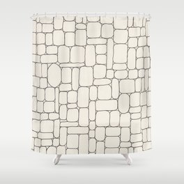 Stone Wall Drawing #3 Shower Curtain