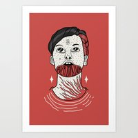F**K BAD LUCK iN reD. Art Print