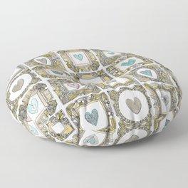 love heart frames Floor Pillow