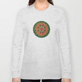Pink Flower Mandala Long Sleeve T-shirt