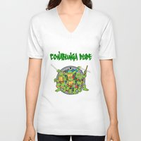teenage mutant ninja turtles V-neck T-shirts featuring Teenage Mutant Ninja Turtles  by CaitlinNicole
