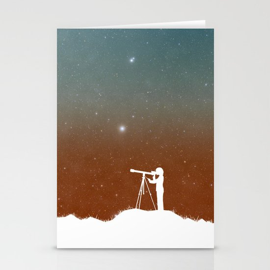 Through the Telescope Stationery Cards