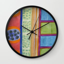 Paw Prints on the Wall Wall Clock