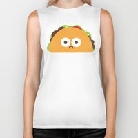 taco Biker Tanks featuring Taco Eclipse of the Heart by David Olenick
