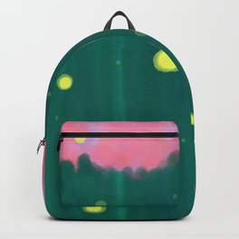 Tall Grass Pink Sky - Fireflies 1 Backpack