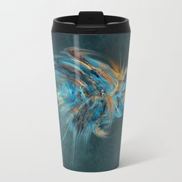 Blue Hornet Fractal Art Travel Mug