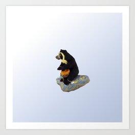 The Drummer Bear Art Print