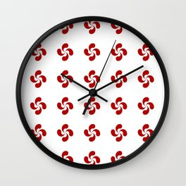 Lauburu- croix basque -turbine,helice, cross. Wall Clock