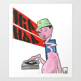 Hip Hop monster Art Print