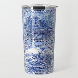 Portuguese Blue Tile art Travel Mug