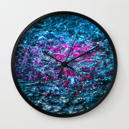 Water Color - Violet - Purple Wall Clock