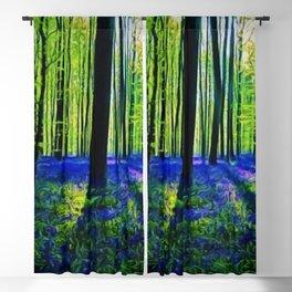 'Bluebells of the Rhode Island Spring' Landscape by Jeanpaul Ferro Blackout Curtain
