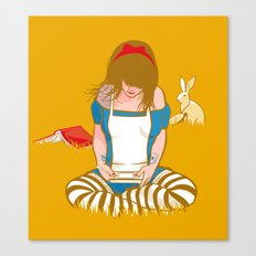 Alice in Mario Land Canvas Print