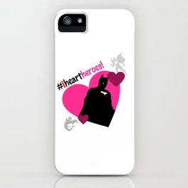 iHEART Heroes: CapedCrusader iPhone Case