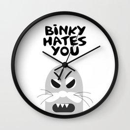 Binky Hates You Wall Clock
