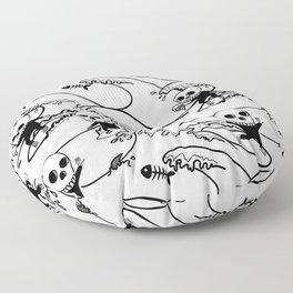 surferSkeleton Floor Pillow