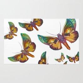 """Fantasy multicolored butterflies"" Rug"