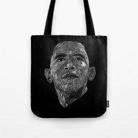 obama Tote Bags featuring Obama by William