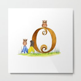 o is for owls Metal Print