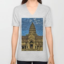 Angkor Wat temple - Cambodia Color Photographic Printtemple - Cambodia Color Photographic Print Unisex V-Neck
