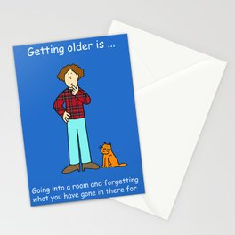 Going into a room and forgetting why you are there. Stationery Cards