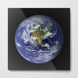 Planet Earth - The Blue Marble From Space Metal Print