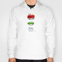 cars Hoodies featuring Cars by Alapapaju