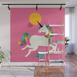 To be a unicorn Wall Mural