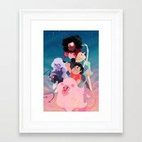 steven universe Framed Art Prints featuring Steven Universe by Taylor Barron