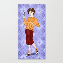 Velma Dinkley from Mystery Incorporated (circa 1954) Canvas Print