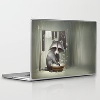 raccoon Laptop & iPad Skins featuring Raccoon by Antracit