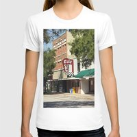 cafe T-shirts featuring City Cafe by Yellow Tie