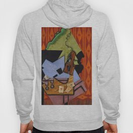 """Juan Gris """"Violin and Playing Cards on a Table"""" Hoody"""