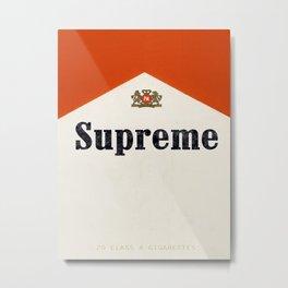 supreme smoke Metal Print