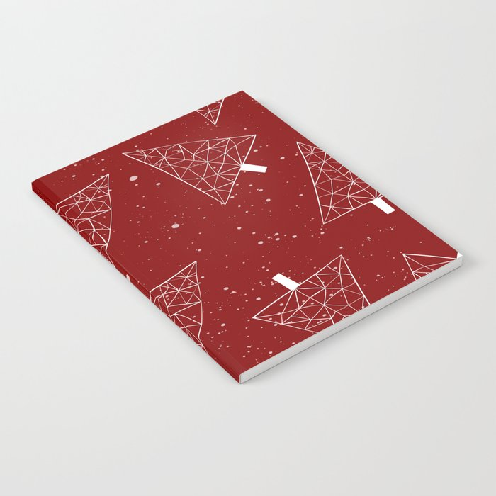 Christmas Trees Red Notebook