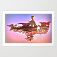 Ancient Glitch Temple Art Print