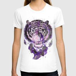 Purple Watercolor Tiger T-shirt