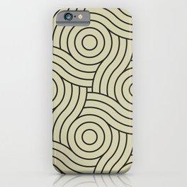 Circle Swirl Pattern Valspar America Natural Olive Green - Martinique Dawn - Asian Silk iPhone Case