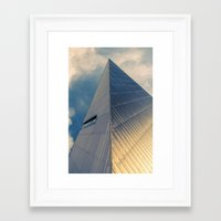 pyramid Framed Art Prints featuring Pyramid by Cameron Booth