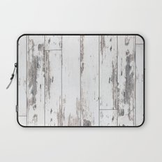 White Wood Laptop Sleeve
