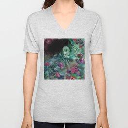 """Sirena between pastel cactus flowers"" Unisex V-Neck"