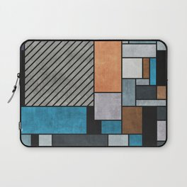 Random Concrete Pattern - Blue, Grey, Brown Laptop Sleeve