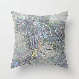 Okemo Resort Trail Map Throw Pillow